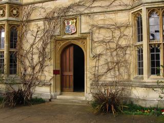 Doorway at Pembroke College, Oxford