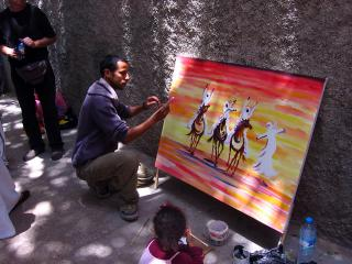 Painting at an artisinal school