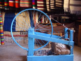 Moroccan spinning wheel