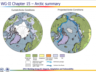 Projected Arctic ice extent 2070-2090