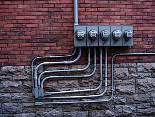 Brick and electrical metres