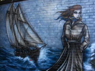 Sailing ship graffiti