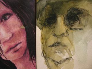 Drawn faces