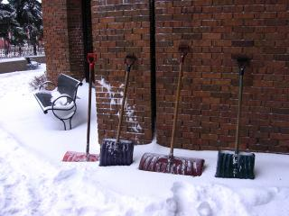 Snow shovels in Ottawa