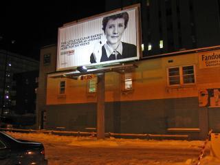 Billboard advertising nuclear power