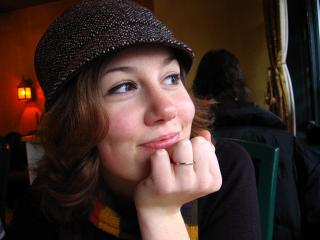 Emily Horn in Yogi's, on Commercial Drive