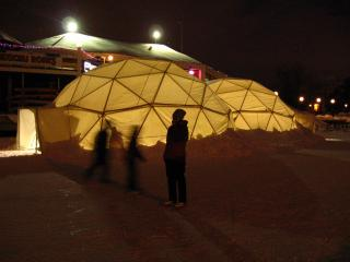 Geodesic domes at Winterlude