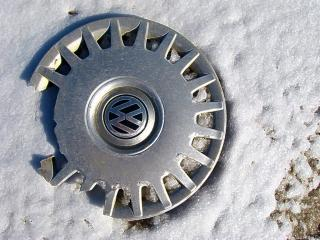 Discarded hubcap