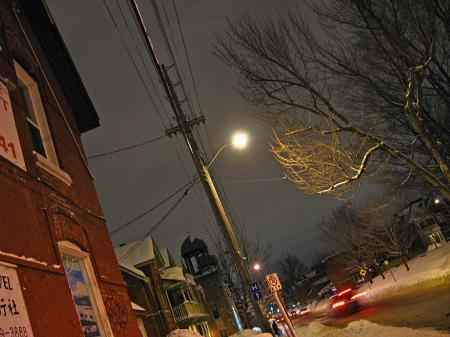 Snowy Ottawa street
