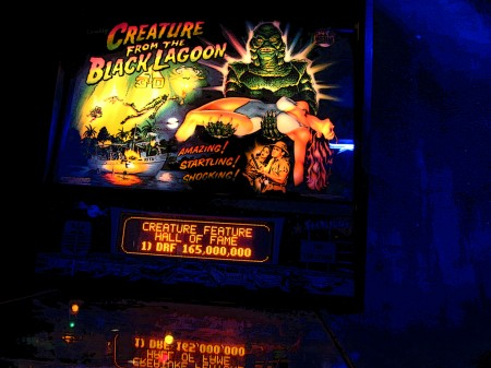 Black lagoon pinball machine