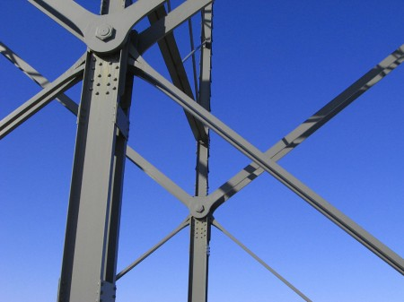 Steel girders and sky