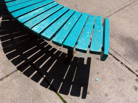 Curved bench in Toronto