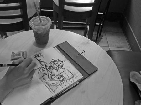 Sketching a robot