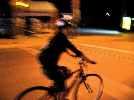 Emily Horn on her bike