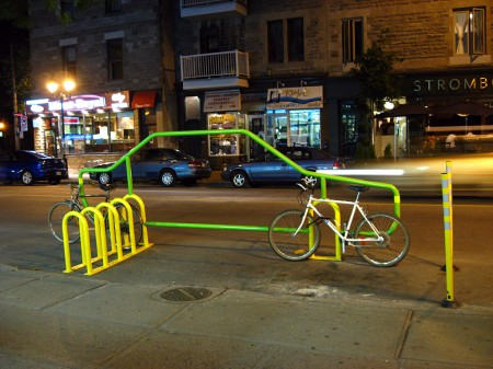 Bicycle parking spot, Montreal
