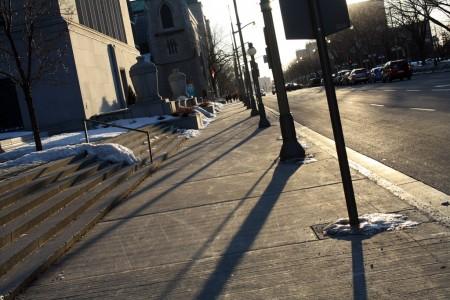 Shadows in downtown Ottawa