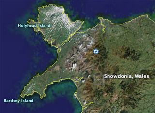 Snowdonia, from Google Maps