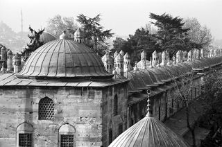 Domes outside a mosque