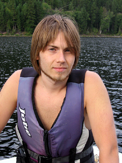 Neal Lantela in a lifejacket