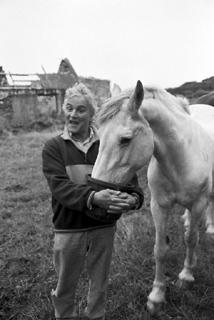 Jim Kilroy and his horse, Howth