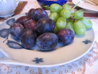 Fruit on our dining room table