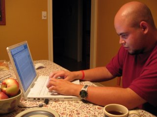 Fernando working on the NASCA report