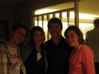 Jonathan, Sasha, me, and Ashley at my departure party