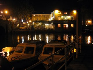 Boats on the Isis by night