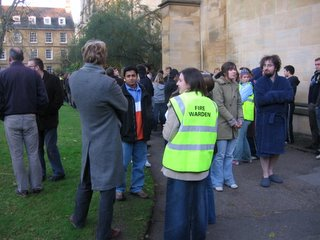 Today's early morning fire drill in Wadham