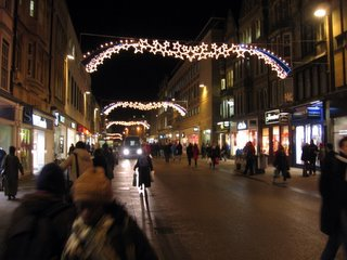 Cornmarket Street with festive lights