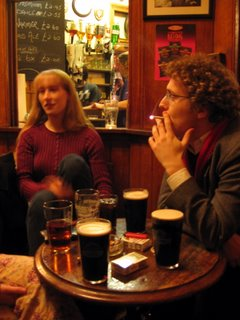 Kelly and Huston in the King's Arms