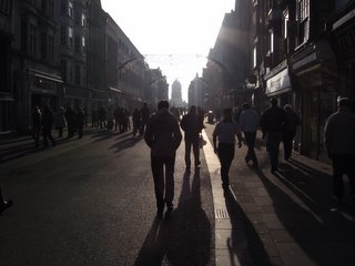 Walking into light, Cornmarket Street