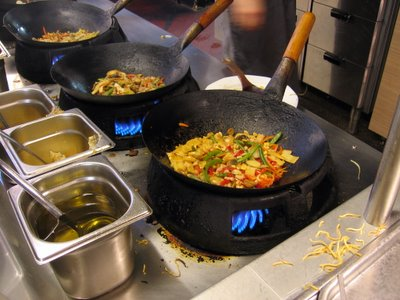 Wok cooked vegetables