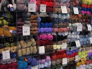 Wool at a shop in Tallinn