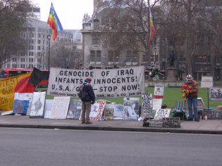 Protestors in Westminister