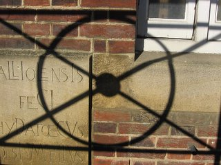 Shadow on brick wall