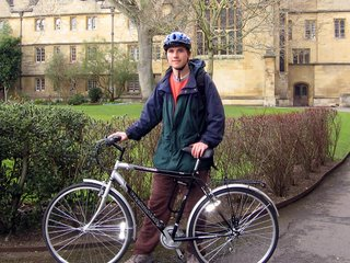 Me and my bike in the Wadham back quad