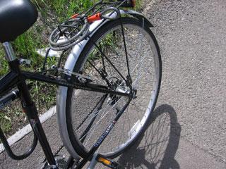 Flat hybrid bike tire