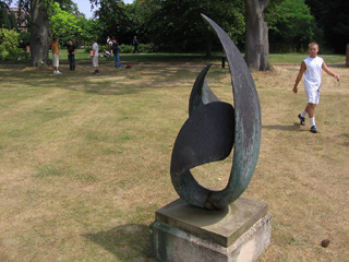 Statue at St. Hugh's College, Oxford