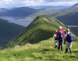 Climbing towards a loch