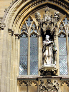 Detail from the Christ Church facade, Oxford