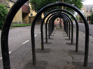 Bike racks near Balliol Sports Ground