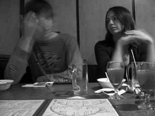 Lauren Priest and Nick Ellan at Guu