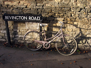 Bike beside St. Antony's College, Oxford