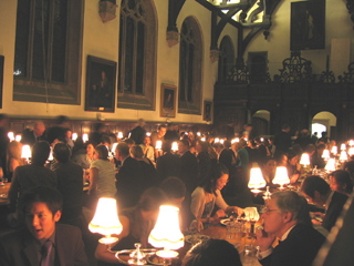 Dinner in hall, Wadham College, Oxford