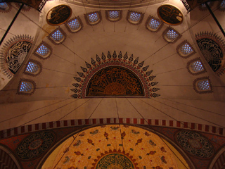 Ceiling of the Mosque of Suleyman the Magnificent