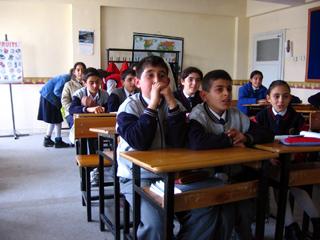 Schoolchildren in Goreme, Cappadocia, Turkey