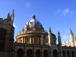 Radcliffe Camera from inside All Souls College