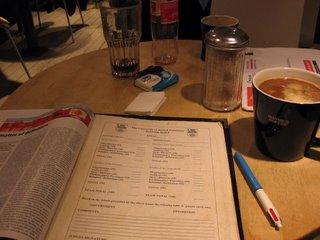 The Economist in Waynes Coffee
