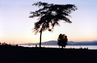Vanier Park at sunset